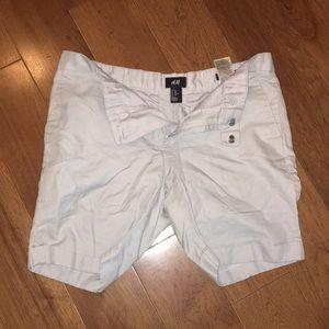 H&M Chino Shorts 33R Light Grey